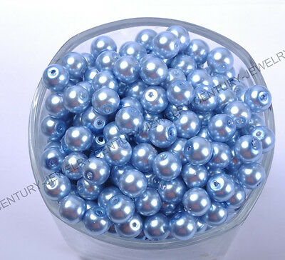 FREE SHIP Top Quality Czech GLASS PEARL Round & Loose Beads 4MM, 6MM, 8MM & 10MM