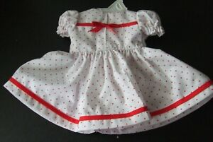"""Coin Dot Dress /& Panties For 18/"""" Shirley Temple Doll."""