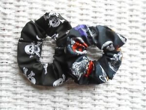 Pack of 4 Blue Mixed Hair Scrunchies Scrunchy Tie Band Bands Ties Gift Xmas New