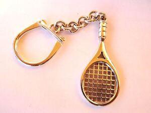 Keychain Tennis Racket 925 Silver Solid 20 G New