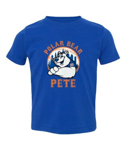Pete Alonso New York Mets Polar Bear Pete Toddler T-shirt