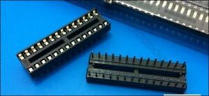 5Pcs DIP-28 28 Pin 28Pin Dip Sockets Adaptor Solder Type Narrow sn