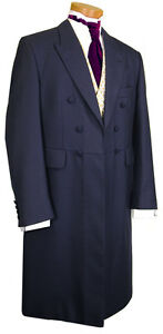 MENS-MANS-FROCK-COAT-NAVY-BLUE-WEDDING-PROM-EDWARDIAN-ENGLISH-FORMAL-WEAR