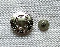 Concho Texas Stern Star 3 cm mit Schraube Conchas Anstecker Lone Star