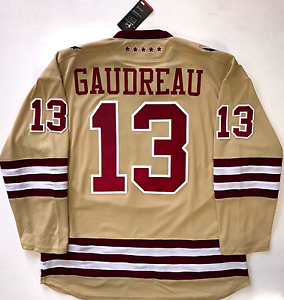 finest selection ab62b f2d1c Details about JOHNNY GAUDREAU BOSTON COLLEGE EAGLES UNDER ARMOUR JERSEY  CALGARY FLAMES NEW