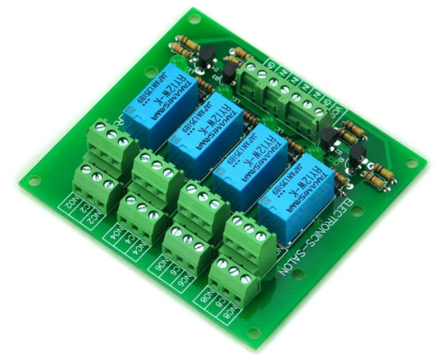 Four DPDT Signal Relay Module Board, 12V version.
