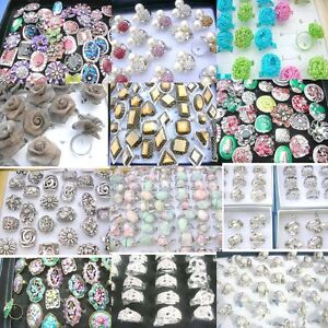 100 pcs Wholesale Rings Retro Vintage Hot Punk Rock FashionShip From US/Canada