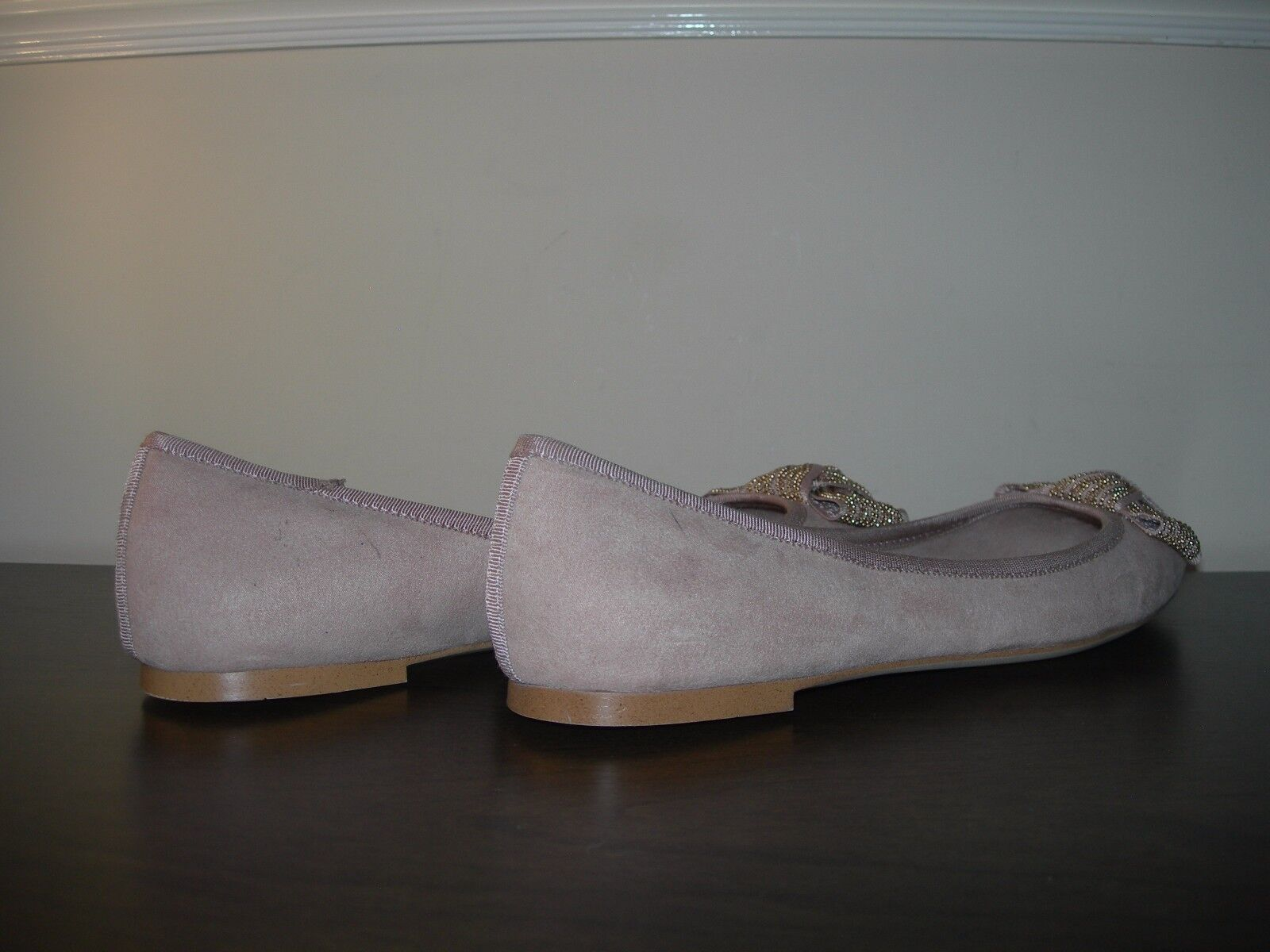 NEXT WOMEN'S SLIP SYNTHETIC ON Schuhe BALLET PUMPS SYNTHETIC SLIP SUEDE UPPERS EU 40 / UK 6.5 e3713a