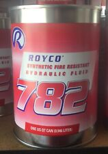 Quart Royco 782 Red Mil Prf 83282d Spec Synthetic Fire Resistant Hydraulic Fluid