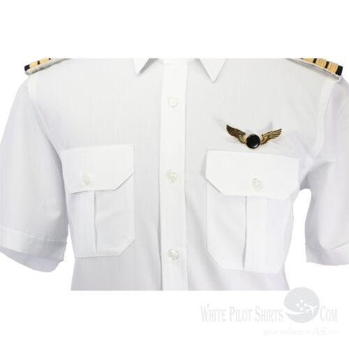 Camicie da Uomo Pilota a sigaretta sicurezza Elicottero Aviatore uniforme Van Heusen Gents