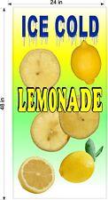 2 X 4 Vinyl Banners Lemonade Drink With Fruit You Choose Fruit Flavor New