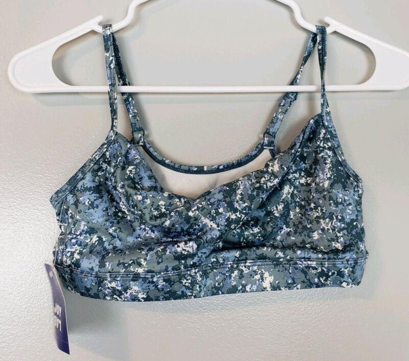 Honey Joy Lab Women's Activewear Sport's Bra Size Small S Blue Printed Gym