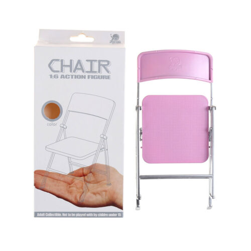 1//6 Scale Min Dollhouse Furniture Folding Chair Toy for Dolls Kid toy giftFBDU