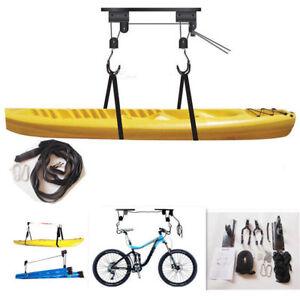 Kayak Hoist Bike Lift Pulley System Garage Ceiling Storage