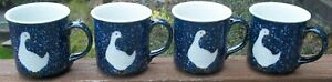 SET-OF-4-OTAGIRI-SPACKLED-GOOSE-MUGS-Excellent-Condition-Geese