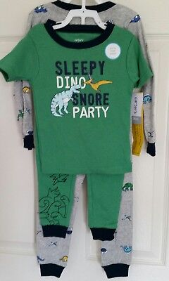 NWT Carter/'s Boys 4T 5T 3 Piece Dinosaur Pajama PJs New Carters