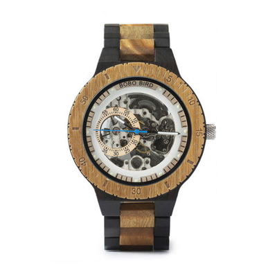 Wooden Watches Men Automatic Mechanical Wristwatch Life Waterproof Wood Watches