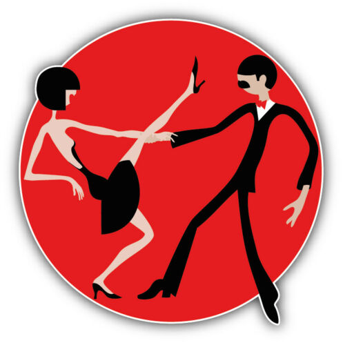 "/'/'SIZES/"" Dancing Couple Label Car Bumper Sticker Decal"