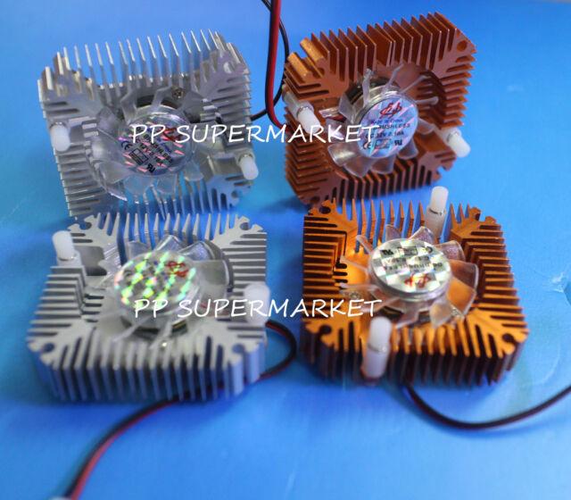 Aluminium Heatsink with 12V Fan for 50W 100W High Power LED Light Lamp Cooling