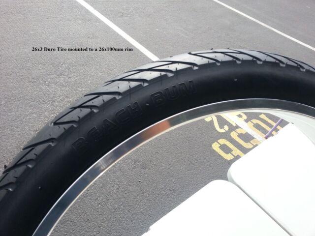 """Beach Cruiser BEACH BUM White Wall Bicycle Tires /& Tubes 26x3.0 Chopper 26/""""x3/"""""""