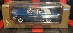 Road Signature 1958 Edsel Citation Convertible Blue 1:18 Diecast NEW NIB RARE