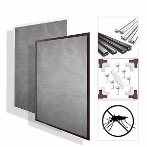 fliegengitter insektenschutz mosquitonetz insektennetz aluminium rahmen bausatz ebay. Black Bedroom Furniture Sets. Home Design Ideas
