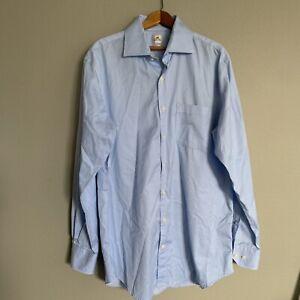 Peter-Millar-Nanoluxe-Mens-Striped-Button-Front-L-S-Casual-Shirt-Sz-16-Long