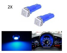 2 LUCI LÁMPARA LED AZUL T5 SMD 5050 bombilla coche luz cabina salpicadero Azul