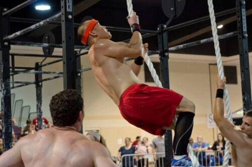 """de long intérieur//extérieur Gym Cross Fit Corde descalade environ 7.62 m 1.5/"""" de diamètre par 25 ft"""