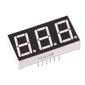 """3-stellige 0.56"""" Anzeige Anode Rot 7-Segment Sieben Common LED Display Arduino"""