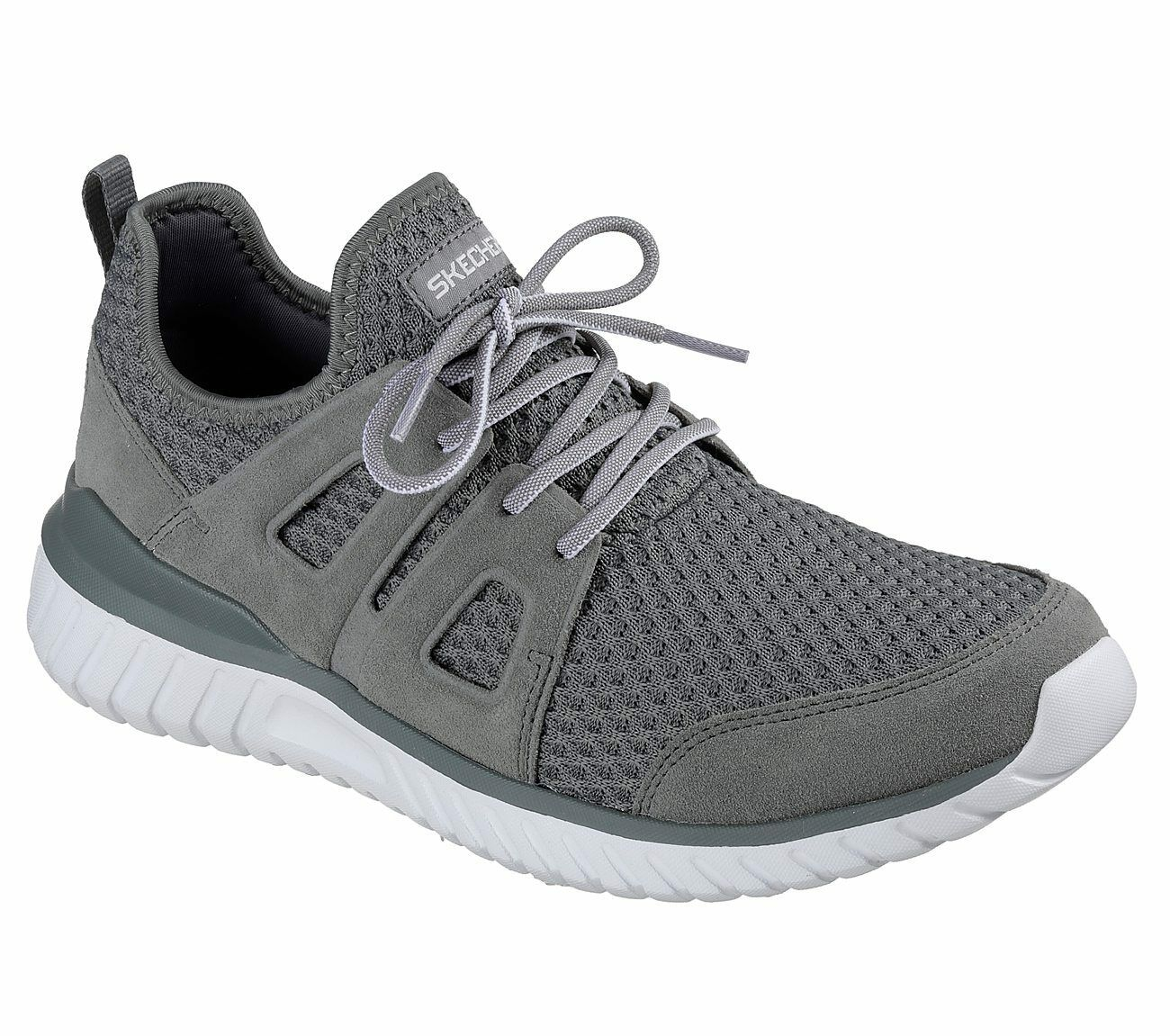 Skechers Rough Cut Herren Turnschuhe grau
