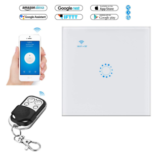 Smart-WiFi-RF-Light-Switch-Touch-Wall-Panel-Alexa-Google-Home-APP-Remote-Y