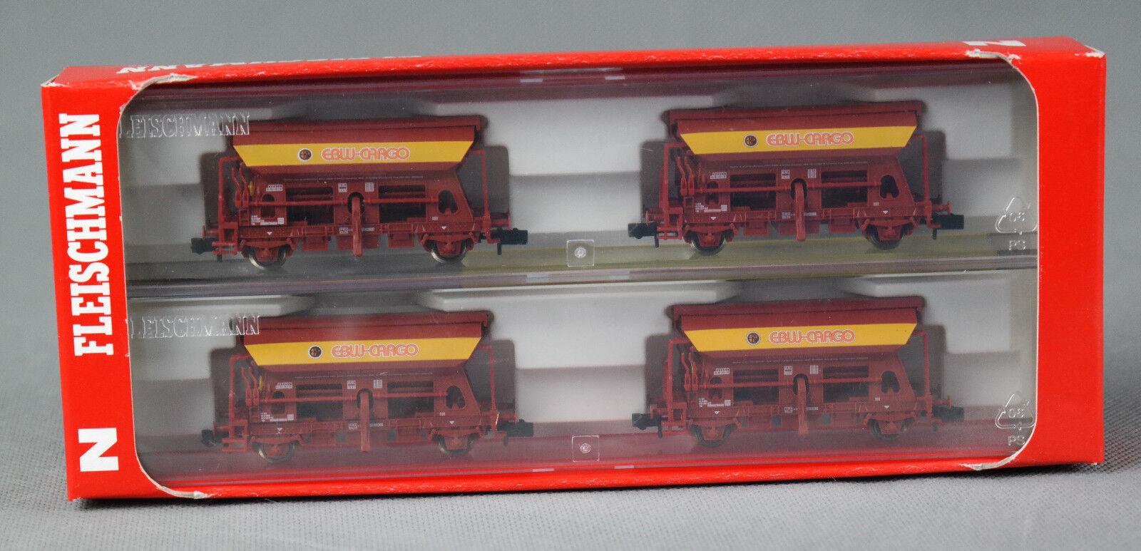 FLEISCHMANN 851102 851102 851102  4-teiliges Selbstentladewagen-Set EBW Cargo NEUWARE    Bekannt für seine hervorragende Qualität  a6cc9e