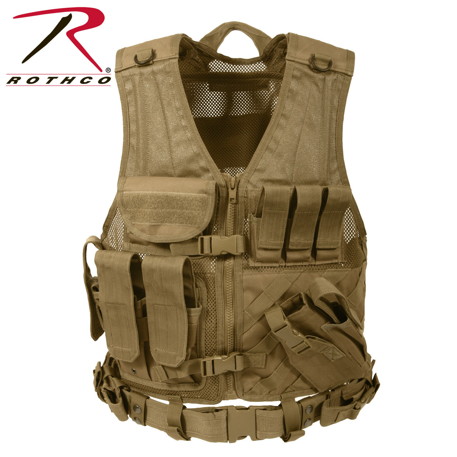 redhco Cross Draw MOLLE Tactical Vest COYOTE BROWN