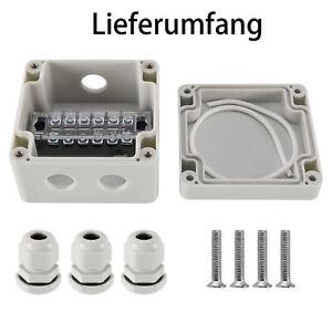 3Wege Abzweigdose Feuchtraum Abzweigkasten Verteilerkasten IP68 Schwarz 24A 450V