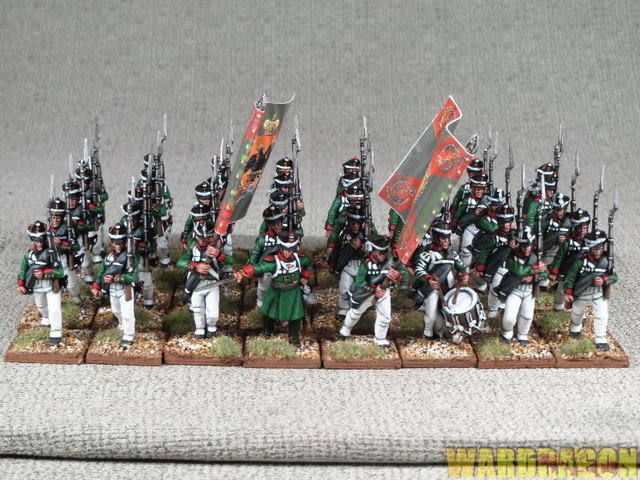 28mm Napoleonic WDS WDS WDS painted Russian Infantry 1809-1814 q91 2617fb