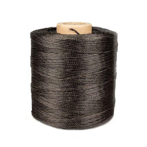 Ledergarn dunkelbraun aus Polyester 1,0mm gewachst 430m