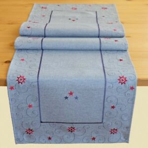 Tischlaufer 40 X 140 Cm Grau Rot Tischdecke Tischdeko Weihnachten