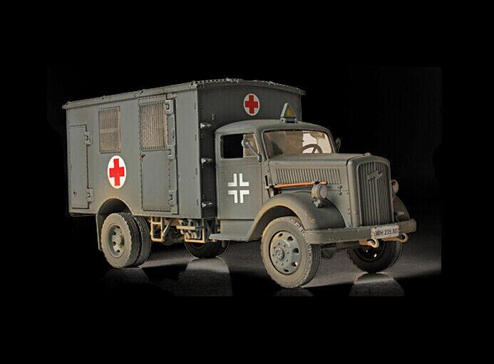 mejor servicio Segunda Guerra Guerra Guerra Mundial German 4X4 Opel ambulancia alemán gris 1 32 Diecast Tanque Edición Limitada FOV  nuevo sádico