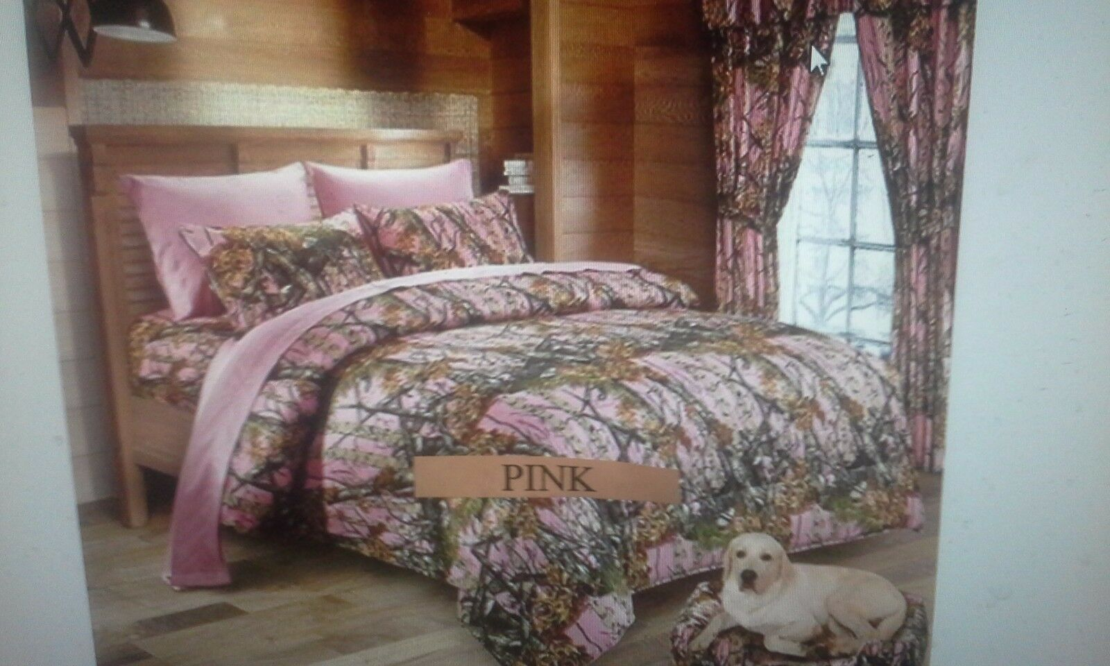 4 PIECE    TWIN    PINK    THE WOODS COMFORTER SET