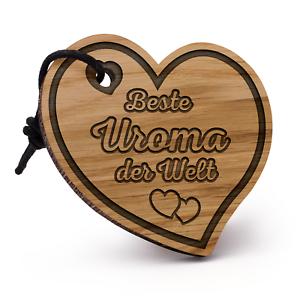 Beste Uroma Schlüsselanhänger Herz Holz Geschenk Idee Geburtstag Urgroßmutter