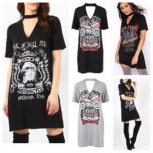Image Is Loading Womens Las Rock N Roll Print Choker V
