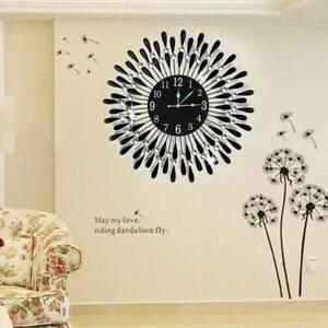 Modern-3D-Diamond-Crystal-Wall-Clock-Luxury-Art-Metal-Round-Home-Office-Decor
