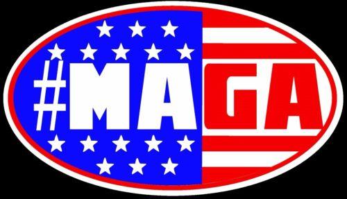SET of 4 BUMPER Auto Magnet #MAGA Donald Trump Make America Great Again