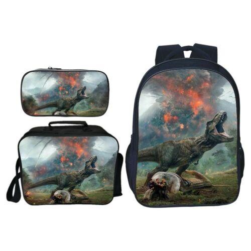 Jurassic World School Bag Backpack Cartoon Bookbag Lunchbag Totes Pen case