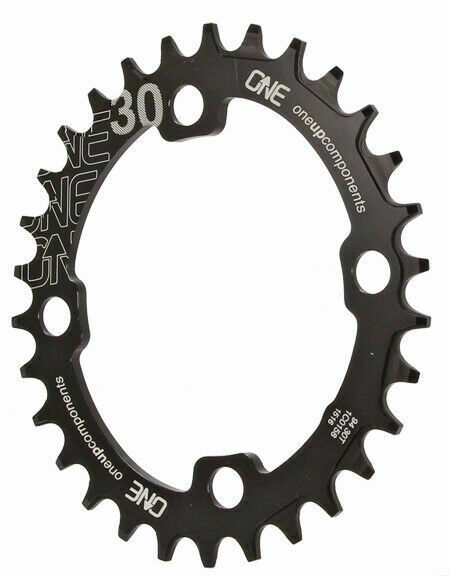 black OneUp Components 94 oval chainring 94BCD 30T