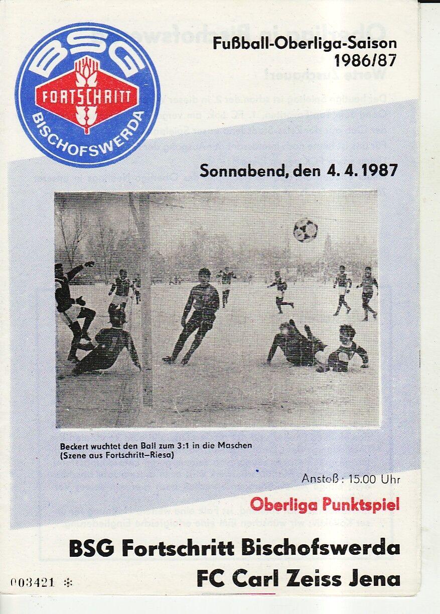 OL 86/87 Progrès Jena Bischofswerda - FC Carl Zeiss Jena Progrès 7fc270