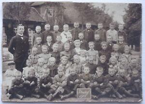 SCHULE KLASSEN FOTO 1908 PETERSDORF FEHMARN ca. 17 x 12 cm