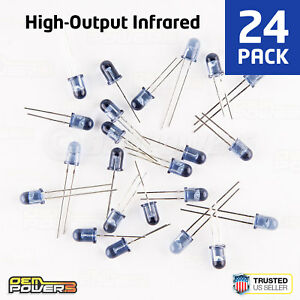 24-X-RadioShack-5mm-High-Output-Infrared-LED-2760143-BULK-PACK-NEW