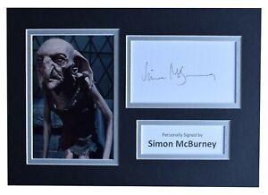 Simon Mcburney Signed Autograph A4 Photo Display Harry Potter